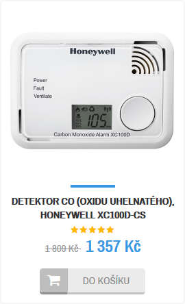 Detektor CO Honeywell XC100D
