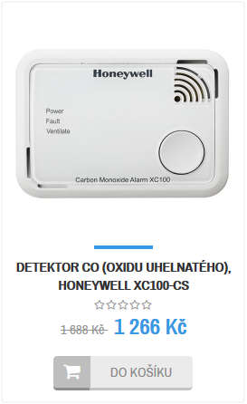 Detektor CO Honeywell XC100